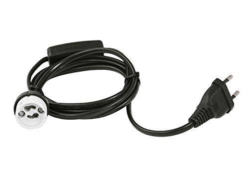 EUROLITE GU-10 Fassung Netzkabel Stecker Schalter | Perfekt um Ihren Arbeitsplatz zu beleuchten