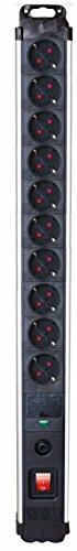 Silver Electronics 49640 Base industrial 10 con protección sobretensión y sobrecalenta