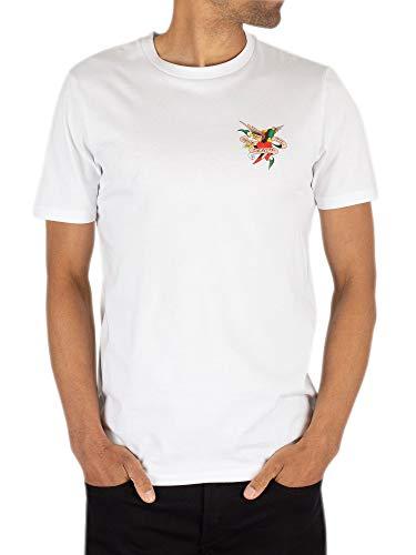 Ed Hardy Herren Bis zum Tod T-Shirt, Weiß, S