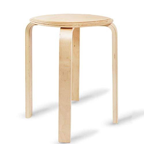 QTQZDD Stapelkruk van massief bughout zitfamilie Verdikte ronde kruk eettafel zitbank multifunctioneel huishouden, creatief, 3245 cm woonkamerstoel