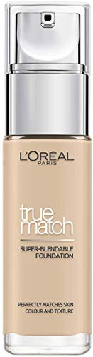 L'Oréal Paris Unifying and Perfecting MakeUp True Match (super-blendable Foundation), 1.N Ivoire/Ivory, 30 ml