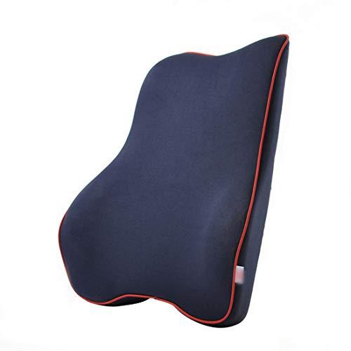 YABAISHI Coche Lumbar Soporte Cojín de automóviles Coche Lumbar Almohada Cintura Apoyo Atrás Memoria Memoria Algodón Atrás Cojín (Color : Dark Beige)