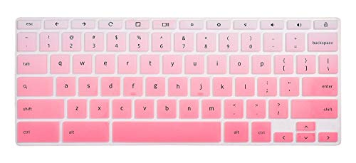 """HP Chromebook 14"""" Keyboard Cover Skins Compatible with HP 2-in-1 14"""" Touchscreen Chromebook,HP Chromebook X360 Touchscreen ,HP Chromebook 14-DA 14B-CA Series(Ombre Pink)"""
