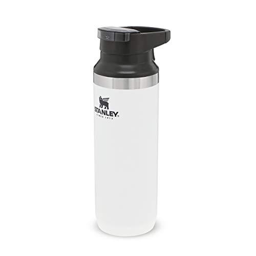 Stanley Adventure Switchback Travel Mug Doppelwandiger, vakuumisolierter Kaffeebecher für Kaffee & Tee, | Hält Getränk heiß oder kalt |BPA-frei | Spülmaschinenfest, Polar White, 0.47 L