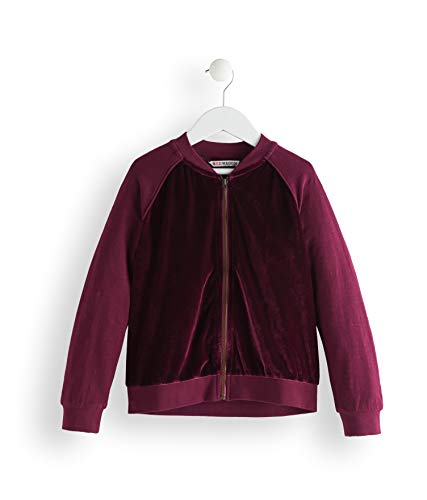 Amazon-Marke: RED WAGON Mädchen Jacke Velvet Bomber, Violett (Maroon), 104, Label:4 Years