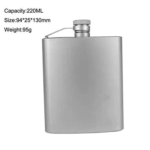 Botella de alcohol portátil de 220 ml, diseño de bandera de titanio, para deportes al aire libre, senderismo o vino