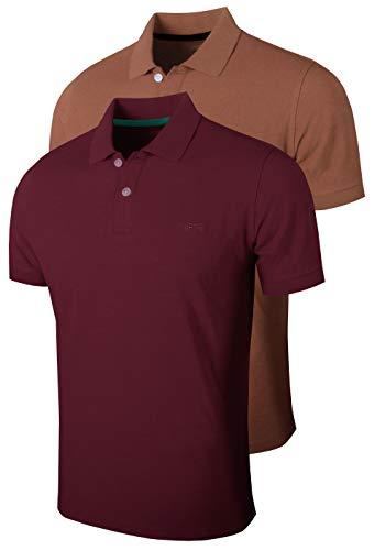 FULL TIME SPORTS® 2 Paquetes De Polos De Manga Corta para Hombre, Camisetas De Tenis Y Golf Informales Cómodas