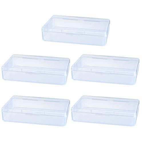 Kapmore 5 Pièces Boîte De Rangement Pour Masque Portable Boite En Plastique Organisateur De Stockage De Masque Sac Pour Masque Facial