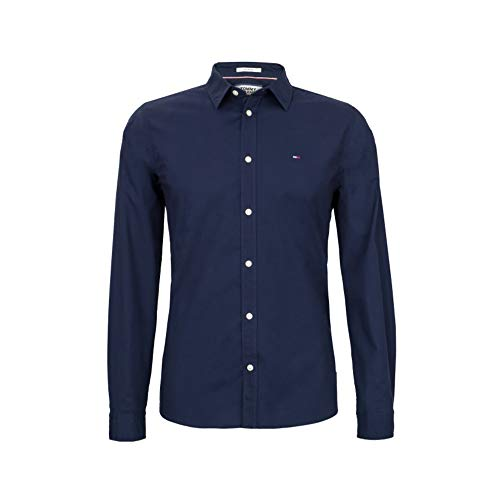 Tommy Hilfiger Oxford Shirt Slim Fit (M, Maritime Blue)