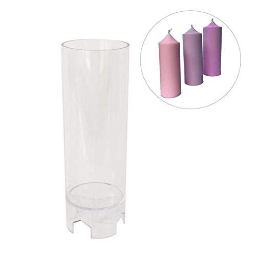 AMITD 2 stuks DIY kandelaar vorm cilindervormige kaarsvormen kerstgeschenkdoos kaarsen maken decoratie, helder Clear helder
