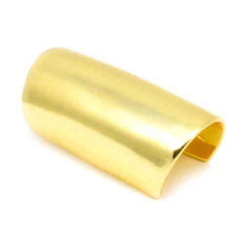 Elixir77UK Gold Colour Long Smooth Ear Cuff Clip On Wrap Upper Helix Non Pierced Earring UK SELLER