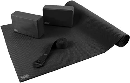 EDX 4-Piece Essential Yoga Kit, Black