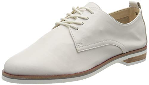 Caprice Cila, Damen Schnürer, Weiß (White Softnap. 160), 38 (5 UK)