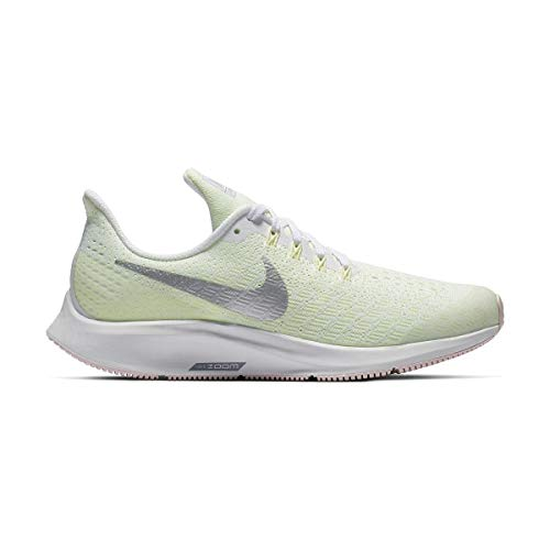 Nike Air Zoom Pegasus 35, Scarpe da Running Bambine e Ragazze, Multicolore (White/Metallic Silver/Barely Volt 100), 35.5 EU