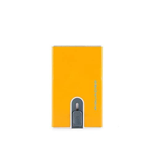 Porta Carte Credito Piatto | Piquadro Blue Square | PP4825B2R-Giallo8