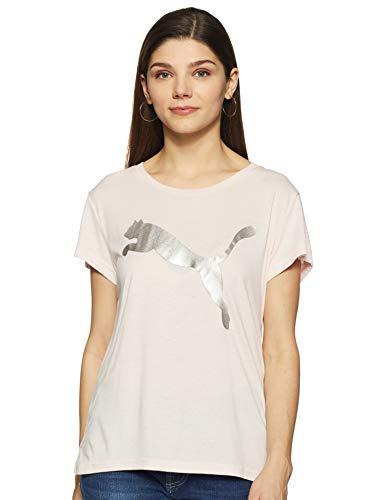 PUMA Damen URBAN Sports Logo Tee Shirt, Pearl-Silver, S