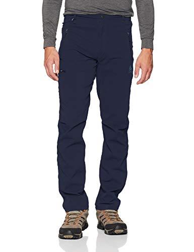Odlo 527552 Pantalon de randonnée Homme Diving Navy FR : L (Taille Fabricant : 50)