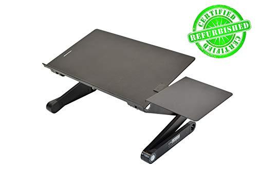 WorkEZ BEST Adjustable Laptop Cooling Stand & Lap Desk for Bed Couch w/ Mouse Pad. Ergonomic height angle tilt aluminum desktop tray portable macbook pro computer riser table cooler holder (Renewed)