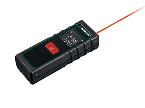 PARKSIDE Laserentfernungsmesser Entfernungsmesser Distanzmesser Abstandsmesser Messgerät 20 Meter