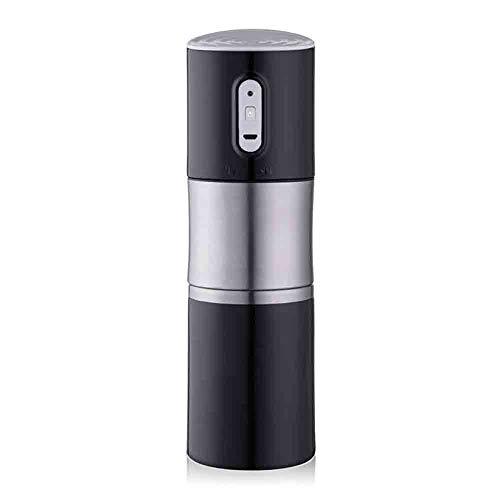 HUANXI Tragbare elektrische mahlende Kaffeemaschine/Haushaltskaffeemaschine/wiederaufladbare USB-Kaffeemaschine,Black