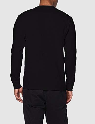 Vans Left Chest Hit LS T-Shirt, Black/White, M Uomo
