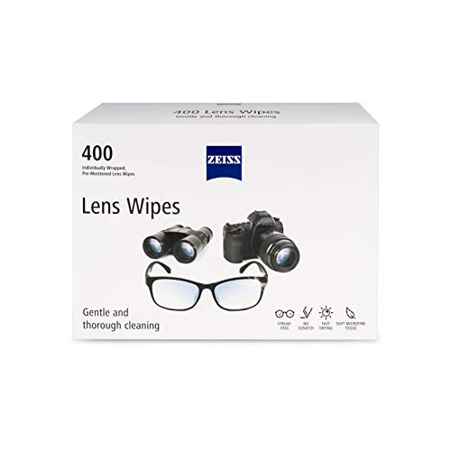 Zeiss Pre-Moistened Lens Cleaning Wipes, 400 count