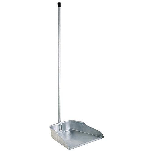 Menax - Langem Stiel - Metall Kehrschaufel - Kehrblech - 71 cm - SIlber