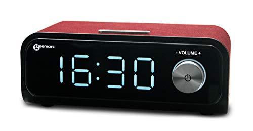 Geemarc VISO Tempo 200-einfacher Musik-Player für Demenz-Kranken-Vintage Lautsprecher sperren/nur 2 Tasten auf der Vorderseite, Rot, 21x11x8cm
