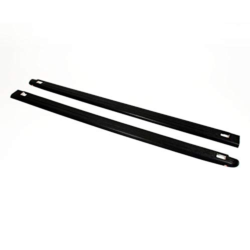 Wade 72-01104 Truck Bed Rail Caps Black Ribbed Finish with Stake Holes for 2007-2014 Chevrolet Silverado 1500 2500 with 6.5ft bed (Set of 2)