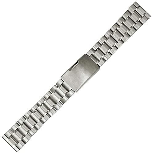 chenghuax Correa de reloj universal de acero inoxidable de 18 mm, 20 mm, 22 mm, 24 mm, correa de repuesto para hombres y mujeres, correa de reloj de metal sólido (color: plata, tamaño: 18 mm)