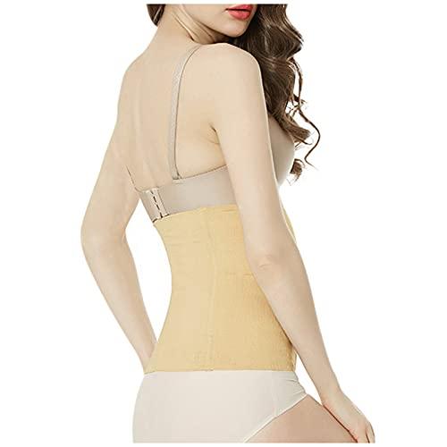 Yue668 - Ropa interior sin costuras para mujer, cinturón abdominal, cintura fina, reducción del vientre, belleza del cuerpo post-parto, recuperación de la forma del cuerpo