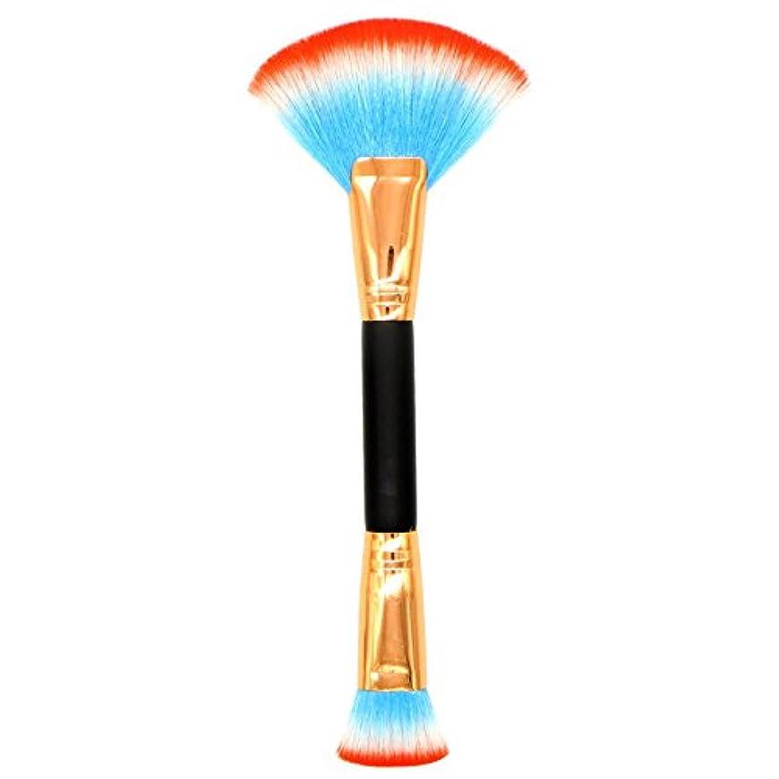 効率的に孤独なゆりメイクブラシ 化粧ブラシ 化粧道具 化粧 ダブルヘッドブラシの形状+フラットヘッドブラシ パウダーブラシ ファンデーションブラシ シャオメイスター