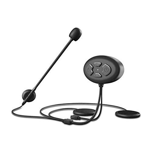 ZHANGFANGPING Bluetooth 5.0 Intercomunicador de motocicleta IPX7 impermeable casco de moto altavoz manos libres auriculares deportivos casco Bluetooth (color: modelo 1)