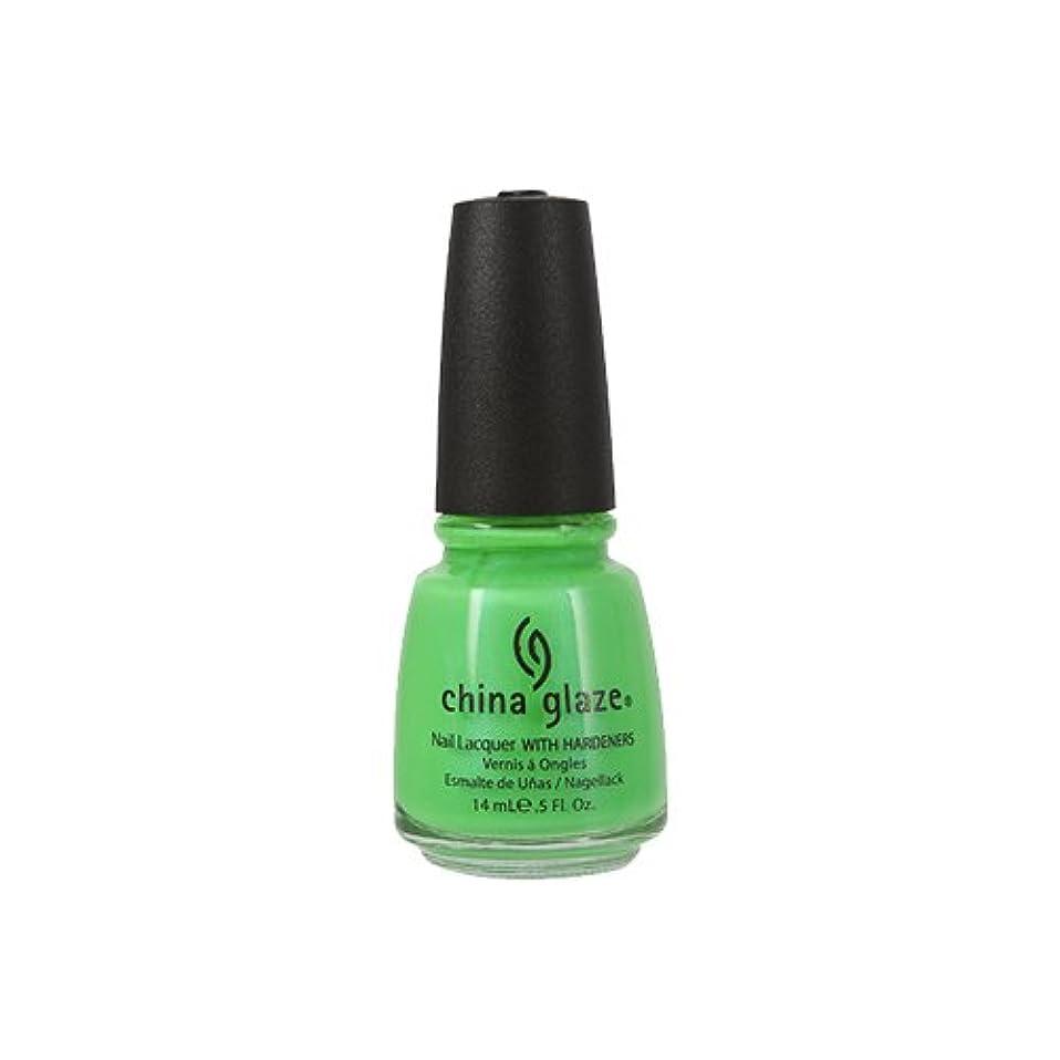 ご意見文庫本緩めるCHINA GLAZE Nail Lacquer with Nail Hardner - In The Lime Light Neon (並行輸入品)