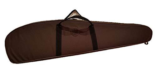 CAZA Y AVENTURA Funda Acolchada para Rifle con Visor en Cordura marrón. 120 cm