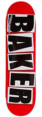 Baker Skateboards Baker Brand Logo Deck Red -White/Black Grip Gratis (8.3875