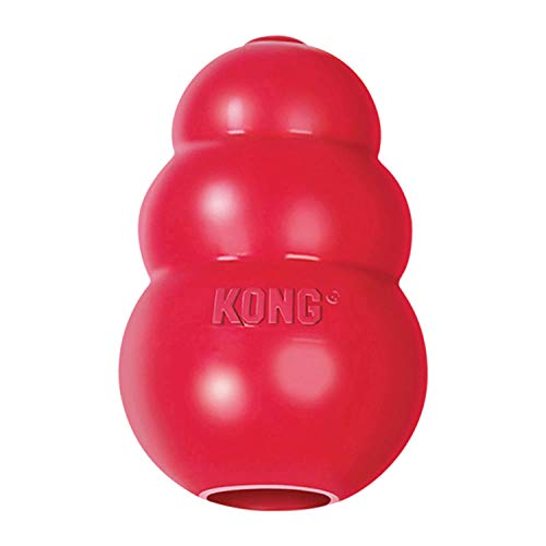 KONG - Classic Dog Toy, Durable Natural Rubber- Fun to Chew, Chase and Fetch- for Medium Dogs