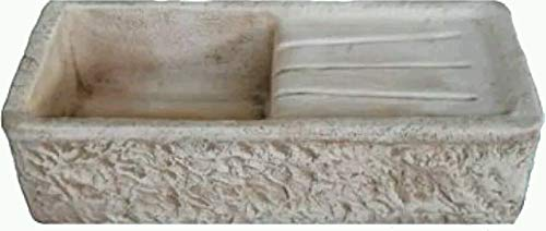 ARTISTICA GRANILLO LAVELLO in Cemento, LAVABO, Fontana, Misure: 80x40 H20 CM. Marrone GOCCIOLATOIO