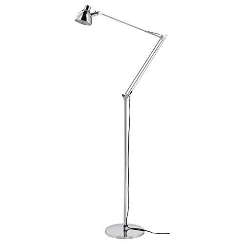 IKEA ANTIFONI lampa stojąca/do czytania niklowana