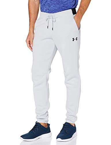 Under Armour/Move Pants Pantalones, Hombre, Halo Gris/Negro (014), Extra-Large