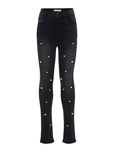 Naam It Jeans elastisch met parel maat 8a kleur zwart