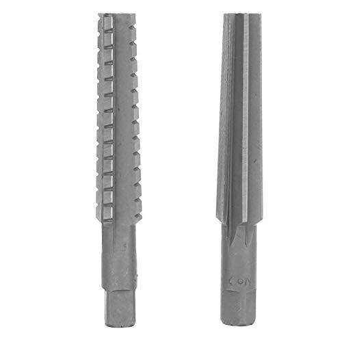Escariador de máquina 2 uds 1,5x12,5 cm vástago recto escariador áspero cono fino HSS MT2 escariador de corte de cobre para madera y aluminio