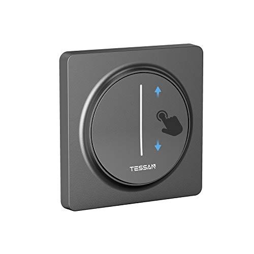 TESSAN Smart Home Dimmschalter, Smart Dimmer mit Sprachsteuerung, Wlan Lichtschalter mit APP Fernbedienung, WiFi Schalter mit Timerfunktion, Smart Home Lichtschalter Kompatibel mit Alexa Google Home