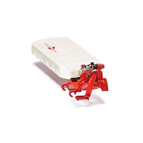 SIKU 2456, Kuhn Heckmähwerk, 1:32, Metall/Kunststoff, Weiß/Rot, Kompatibel mit SIKU Standard-Heckkupplung