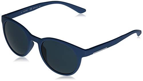 CALVIN KLEIN EYEWEAR Unisex CK20543S-422 Sonnenbrille,Matte Slate Blue/Solid Blue, 52-20-145