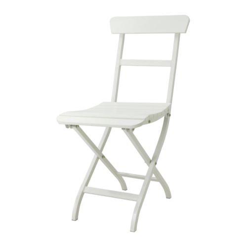 IKEA MALARO - silla plegable blanco