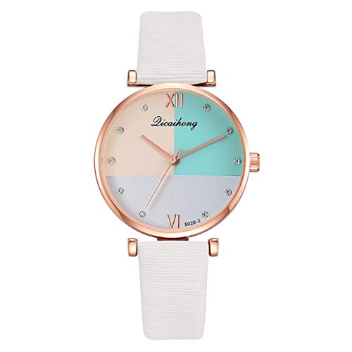 ROVNKD Fashionable charm GoGoey leisure fashion simple numbers dial small quartz women's watch dial multiple colours a variety of types. - White - One size fits all