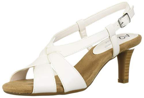 A2 by Aerosoles Women's PASSCODE Heeled Sandal, WHITE, 9 M US