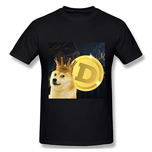 FREE Camiseta de manga corta Dogecoin Absorb Sweat Loose para hombre (Negro)