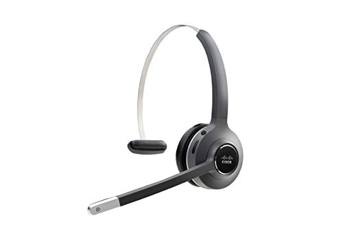 Cisco Headset 561, Wireless Single On-Ear Digital Enhanced Cordless Telecommunications Headset with Standard Base for US & Canada, Charcoal, 1-Year Limited Liability Warranty (CP-HS-WL-561-S-US=)
